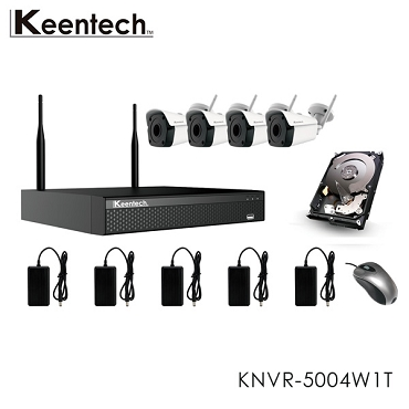 5MP 4-Channel WiFi NVR Kit with 1TB HDD Model KNVR-5004W1T Keentech