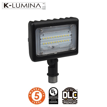 LED Flood Light – 15W – Knuckle Mount, Landscape Mount – UL&DLC - 5 Year Warranty