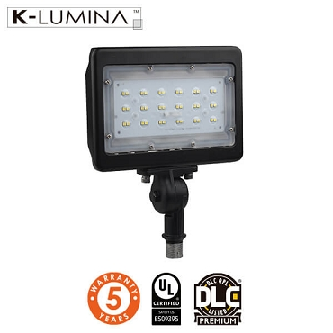 LED Flood Light – 30W – Knuckle Mount, Landscape Mount – UL&DLC - 5 Year Warranty
