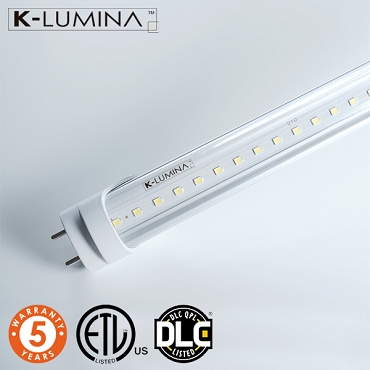4Ft 18W Led Tube - Clear Cover - 5000K - Ballast Bypass - ETL+DLC  *20 pcs Pack Promo*