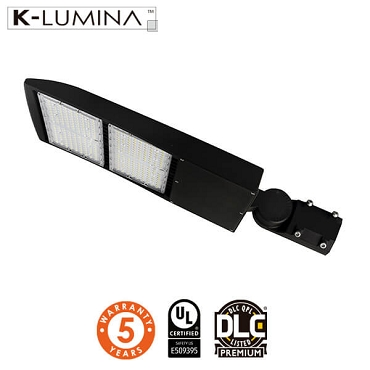 LED Shoebox/Street Light – 300W – 140lm/W, Adjustable Mount, T3 Lens – 5 Year Warranty – UL&DLC